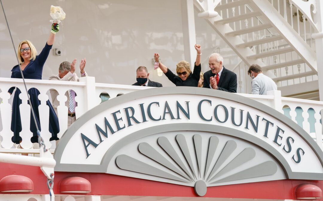 The Bourbon christening of a Countess and a safe return to American river cruising